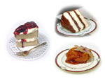 Artificial Cake & Pie Slices