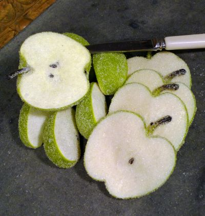Artificial Green Apple Sugared Slices & Wedges