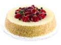 "9""Artificial Cheese Cake w/ Strawberry Topping"