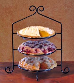 Zimmerman Marketplace Three Tier Wrought Iron Pie Plate