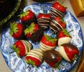 Artificial Chocolate Covered Strawberries Box of 12